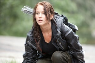 Photo of Jennifer Lawrence as Katniss