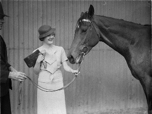 Woman with horse PD