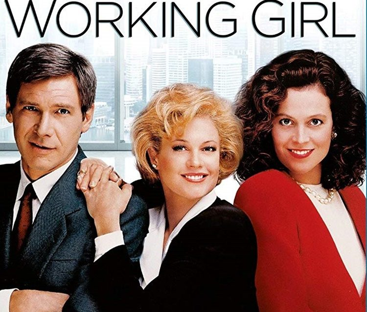 Working Girl poster showing Harrison Ford, Melanie Griffith, and Sigourney Weaver