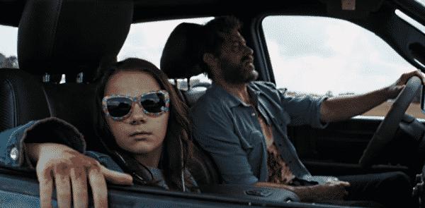 Dafne Keen and Hugh Jackman in Logan (2017)