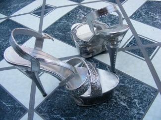 silver high heels pixabay