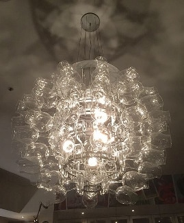 wine glass chandelier by Kgbo