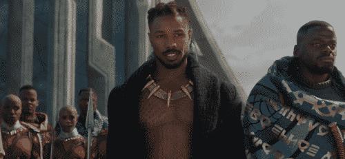 Michael B. Jordan as Killmonger in Black Panther (2018)