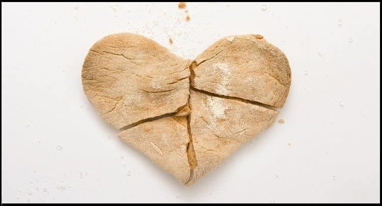 broken cookie heart