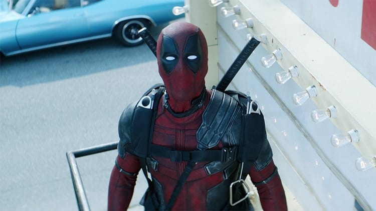 Ryan Reynolds shown serving up some Deadpool secrets in Deadpool 2