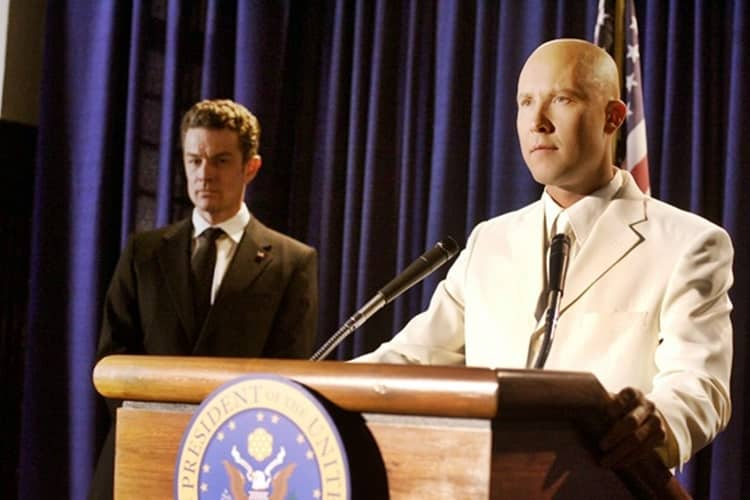 Lex Luthor (Michael Rosenbaum) made our superhero president list