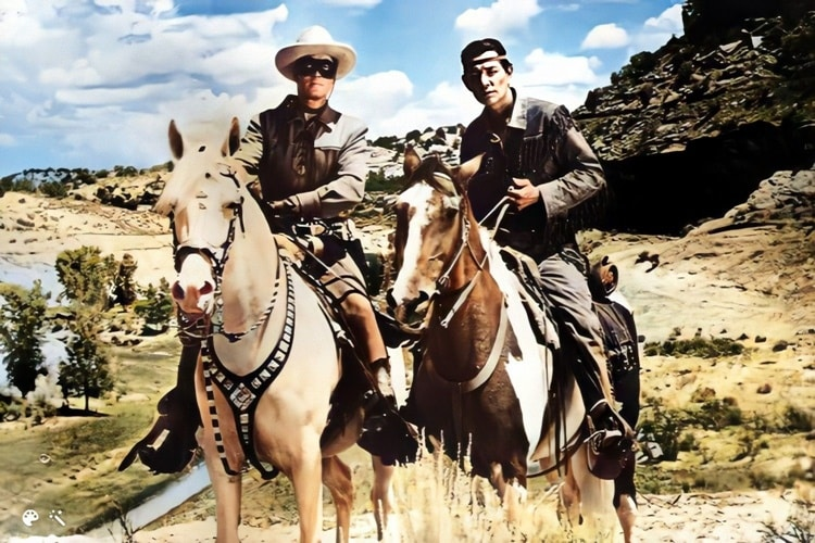 Tonto (shown with the Lone Ranger) makes our Native American Superheroes list
