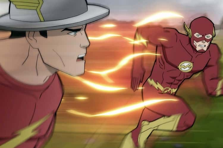 The Flash & Golden Age Flash in Justice Society: World War II