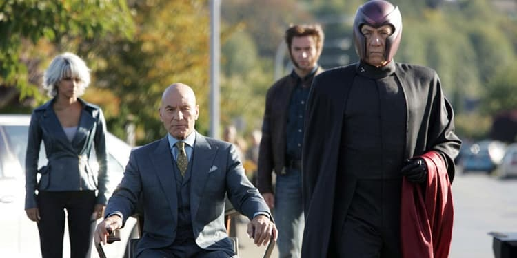Professor Xavier (Patrick Stewart) tops our list of superheroes with a disability.